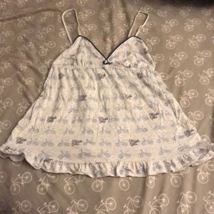 Baby doll bicycle cami